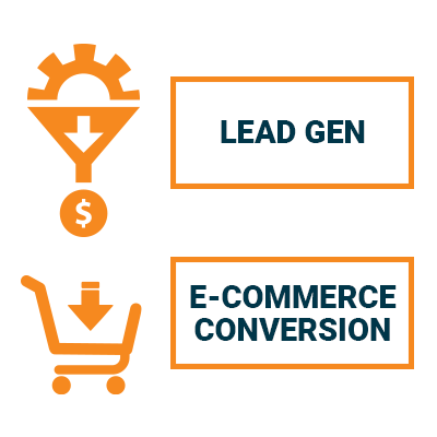 lead gen and e-commerce icons